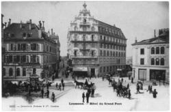 Lausanne. hôtel du Grand-Pont