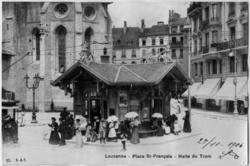 Lausanne - Place St-François - Halte du Tram