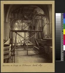 Réparation du Temple de St François Avril 1891