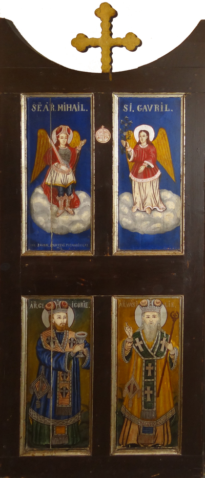 Arhanghelii Mihail și Gavriil / Sfinții Grigore cel Mare și Vasile cel Mare