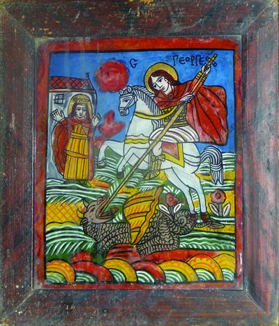 Sf. Mucenic Gheorghe, ucigând balaurul