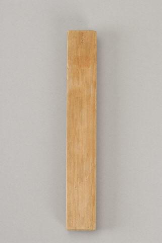 Placa rectangular de madeira