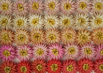 blomma, konstgjord blomma, dahlia