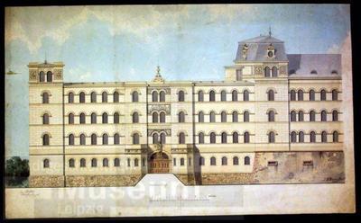 Architekturzeichnung der Pleißenburg, westlicher Flügel