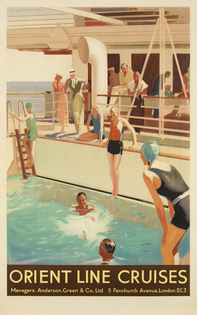 Poster: 'Orient Line Cruises'