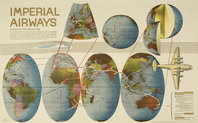 Poster: 'Interesting Facts About This Type of Map' [Imperial Airways]
