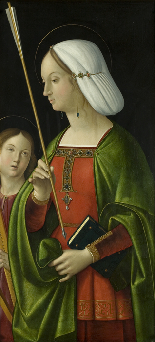 Saint Ursula [right wing of the Withypool Triptych]