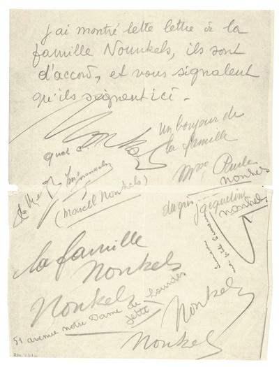 Lettre autographe à Scutenaire