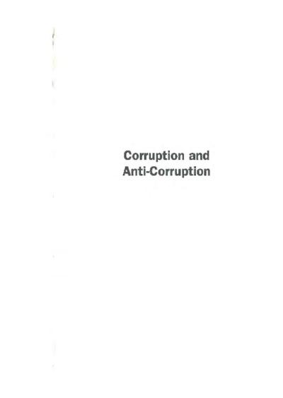Corruption and Anti-Corruption