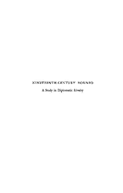 Nineteenth-Century Borneo