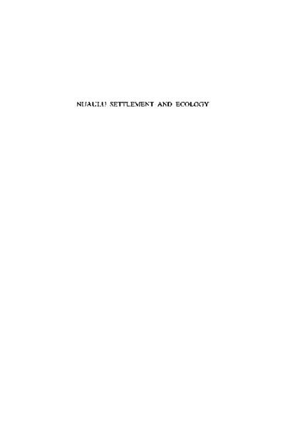 Nuaulu Settlement and Ecology