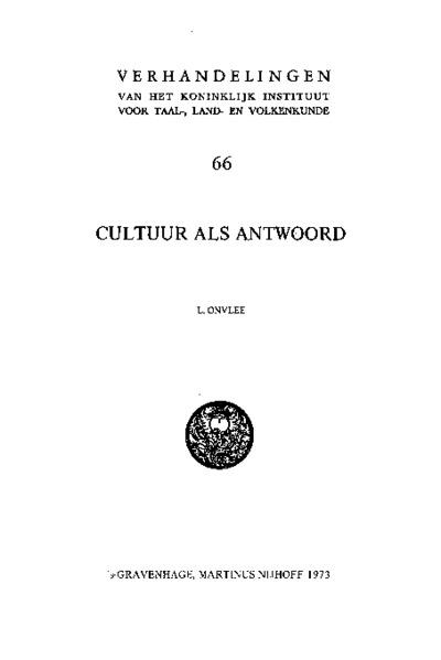 Cultuur als antwoord