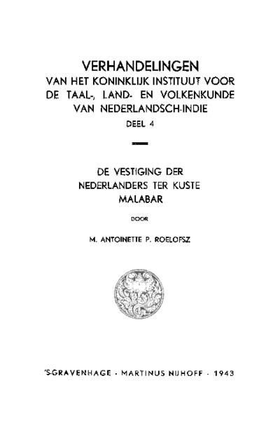 De vestiging der Nederlanders ter kuste Malabar