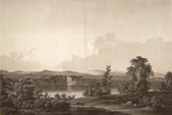 View of the River St. Lawrence, Falls of Montmorenci from the Island of Orleans