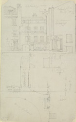 [Plan and Elevation of Wigley's Museum, and of Lord Berkley's House, Spring Gardens, 1824]