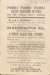 Advert For M. J. & G. Nathan, Fur Store
