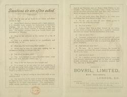 Advert For Bovril reverse()
