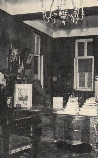 Muzeul Octavian Goga, Ciucea. Interior. Camera de lucru a poetului