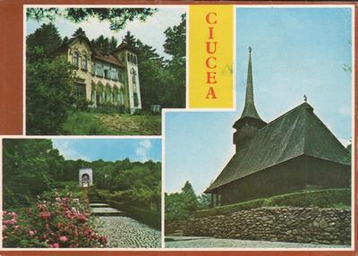 1. CIUCEA. Castelul O. Goga. 2. Mausoleul O. Goga. 3. Biserica din lemn.