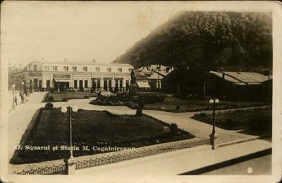Piatra Neamţ. Squarul şi staţia M. Cogălniceanu