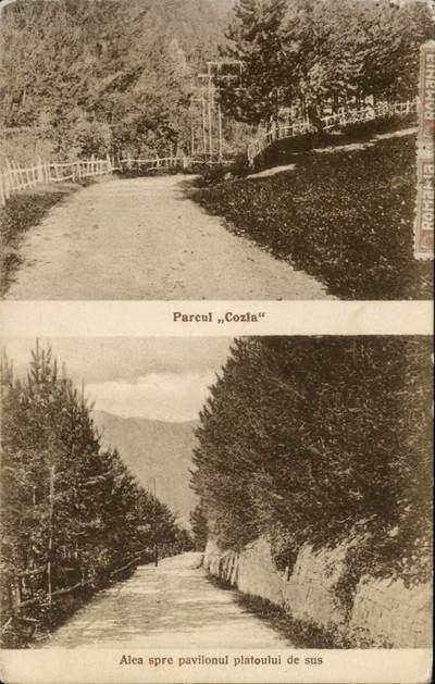 Piatra Neamţ.Parcul Cozla. Aleea spre pavilionul platoului de sus