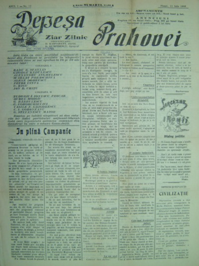 Depeșa Prahovei, Anul I, No.52