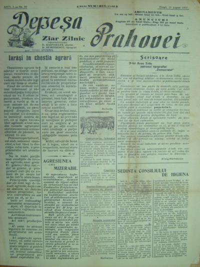 Depeșa Prahovei, Anul I, No.80