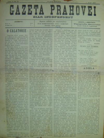 Gazeta Prahovei, Anul II, No. 77