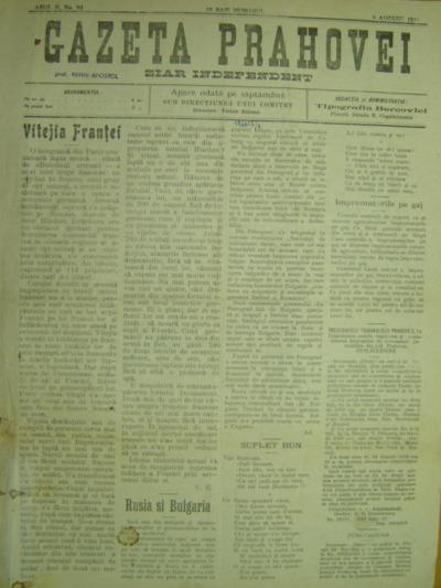 Gazeta Prahovei, Anul II, No. 84