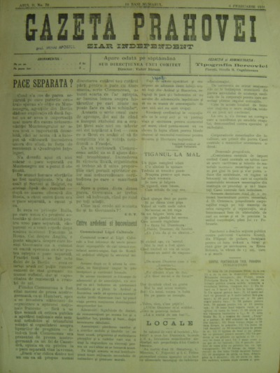 Gazeta Prahovei, Anul II, No. 70