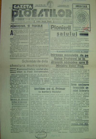 Gazeta Ploestilor, Anul II, No. 212