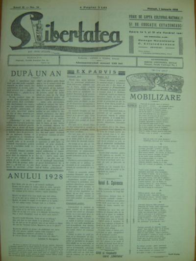 Libertatea, Anul II, No. 31