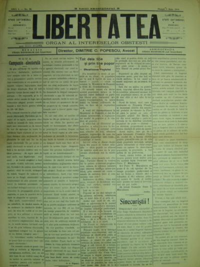 Libertatea, Anul I, No. 38