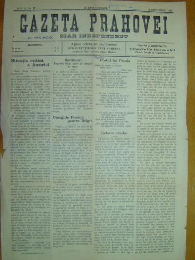 Gazeta Prahovei, Anul II, No. 27