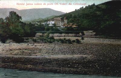 Hotelul Jantea vedere de peste Olt. Vederi din Călimăneşti