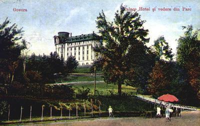 Băile Govora-Palace Hotel și vedere din Parc