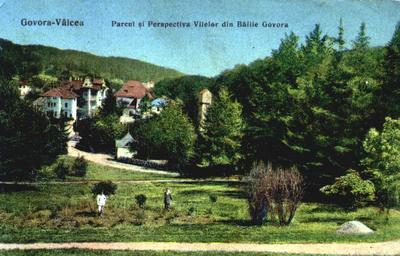 Govora-Parcul și perspectiva vilelor din Băile Govora