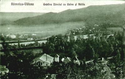 Râmnicu Vâlcea-Parcul (Grădina) Zăvoi cu Uzina și Băile