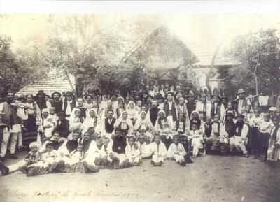 Serbare sfârșit de an școlar 1928-Săliștea veche-Rm. Vâlcea