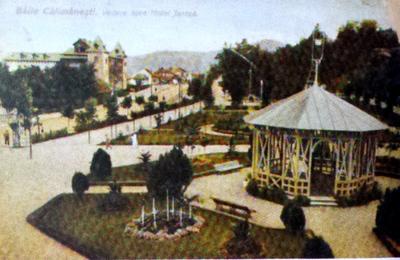 Băile Călimănești-Vedere spre Hotel Jantea