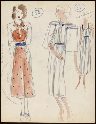 [Modèle de robe et cape]