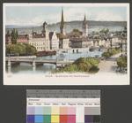 Zürich Quaibrücke mit Stadthausquai