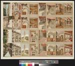 [Andruckbogen mit einer Serie von 32 Ansichtskarten zu Zürich und dem Engadin]