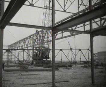 Construction of giant hangar