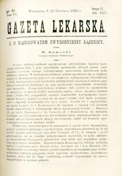 Gazeta Lekarska 1895 R.30, t.15, nr 25