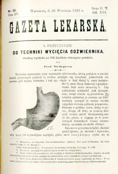 Gazeta Lekarska 1895 R.30, t.15, nr 39