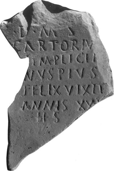 C. Artorius Simplicianus Felix (?), 20 à 30 ans