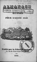 Almanach social pour 1840