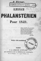 Almanach phalanstérien pour 1849