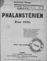 Almanach phalanstérien pour 1845